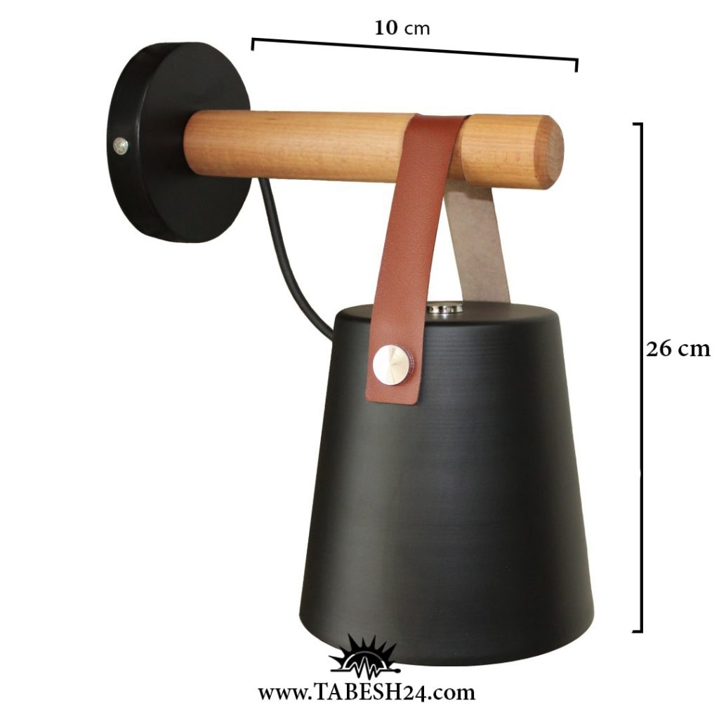 اندازه های چراغ دیواری چوب و چرم 109